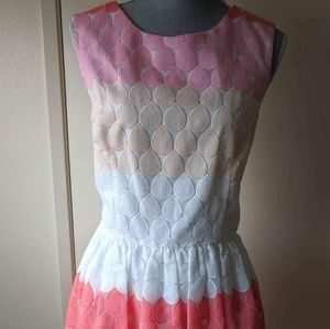 betsey johnson pink ombre cupcake dress